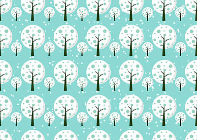 Tapestry - Textile - White Trees  Repeating Pattern Design by All Free Download