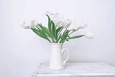 Photograph - White Tulip Love by Kim Hojnacki