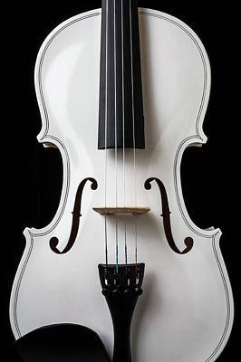 Photograph - White Violin by Garry Gay