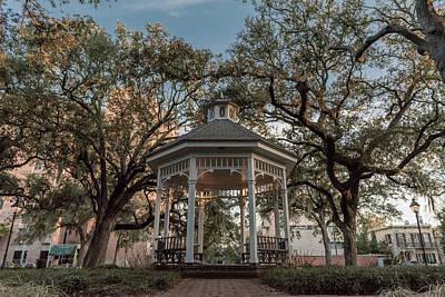 Photograph - Whitefield Square Gazebo In Savannah Ga by Doug Ash
