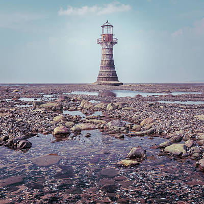 Elliott Coleman Royalty-Free and Rights-Managed Images - Whiteford Point Lighthouse by Elliott Coleman