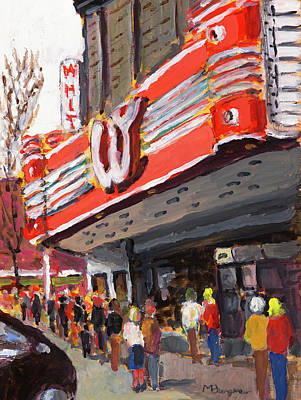 Painting - Whiteside Theatre by Mike Bergen
