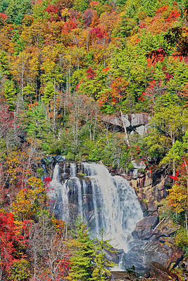 Photograph - Whitewater Falls November by Meta Gatschenberger