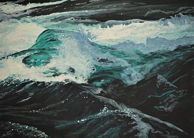 Painting - Whitewater by Peter Mathios