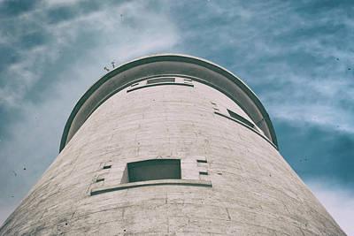 Photograph - Whitley Bay St Marys Lighthouse Vintage by Scott Lyons