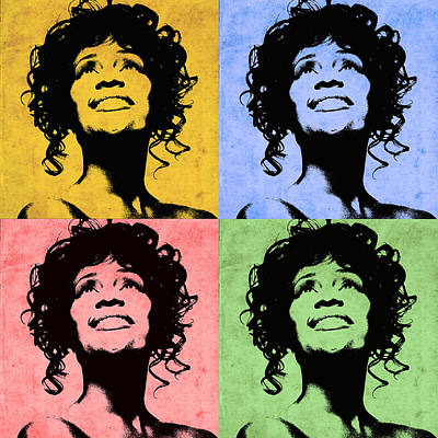 Photograph - Whitney Houston 2 by Andrew Fare
