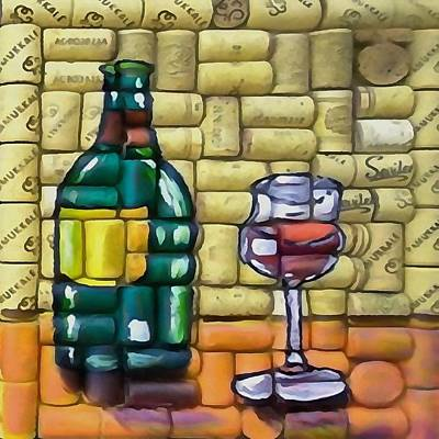 Painting - Whoa More Merlot by Taiche Acrylic Art