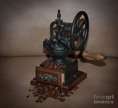 Photograph - Whole Bean Manual Coffee Grinder by Dale Powell