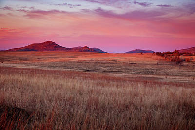 Mountain Royalty-Free and Rights-Managed Images - Wichita Wildlife Refuge 2 by Ricky Barnard