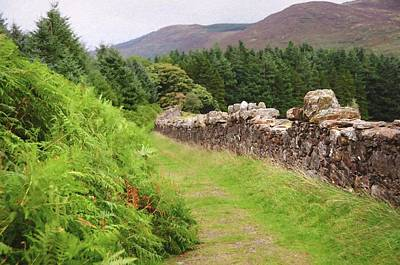 Photograph - Wicklow Journey. Along Stoned Wall by Jenny Rainbow