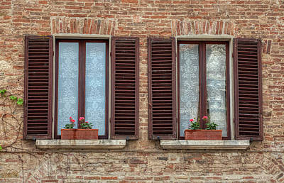 Photograph - Window Flowers Of Tuscany by David Letts