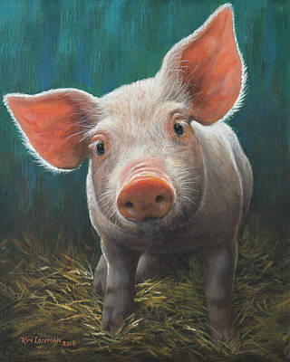 Painting - Wilbur by Kim Lockman