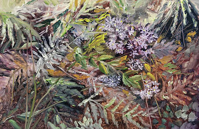 Painting - Wild Aster by Susan E Hanna