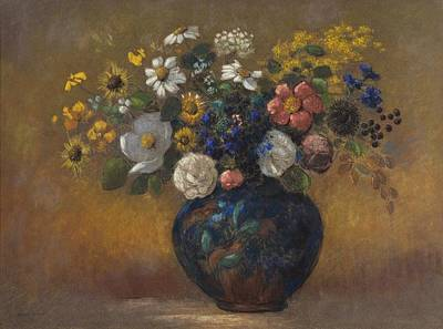 Graduation Hats Royalty Free Images - Wild Flowers in a Vase, 1910 Royalty-Free Image by Odilon Redon
