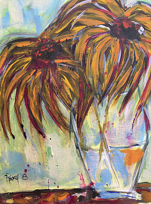 Contemporary Painting - Wild Flowers by Roxy Rich