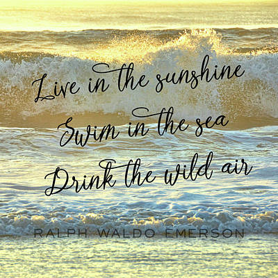 Photograph - Wild Sea Quote by Jamart Photography