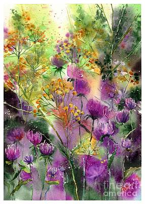 August Wall Art - Painting - Wild Tansy by Suzann's Art