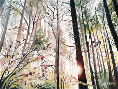 Painting - Wild Wood by Cedar Lee