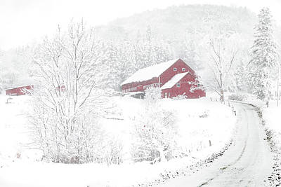 Photograph - Wilder Farm In Snowstorm by Tim Kirchoff
