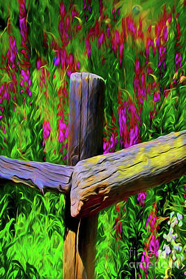 Painting - Wildflower Field A18228 by Ray Shrewsberry
