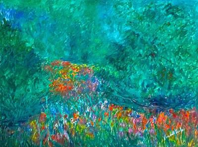 Painting - Wildflower Swirl Stage One by Kendall Kessler