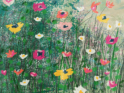 Mixed Media - Wildflowers- Art By Linda Woods by Linda Woods