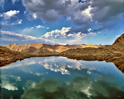 Wildhorse Lake Reflections Art Print by Leland D Howard