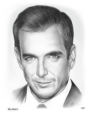 Drawing - Will Arnett by Greg Joens
