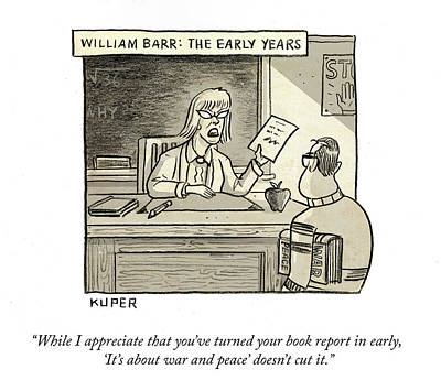 Drawing - William Barr The Early Years by Peter Kuper
