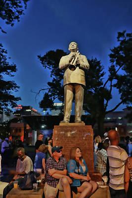 Photograph - William Christopher Handy Statue - Memphis by Allen Beatty