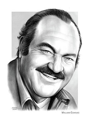 Drawings Rights Managed Images - William Conrad Royalty-Free Image by Greg Joens