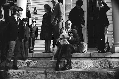 Photograph - William F. Buckley Licked By Dog by Alfred Eisenstaedt