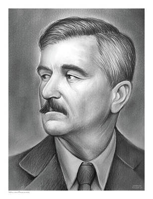 Drawings - William Faulkner by Greg Joens