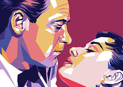 Sean Test - William Holden and Audrey Hepburn by Stars on Art