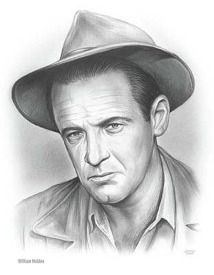 Drawings Royalty Free Images - William Holden Royalty-Free Image by Greg Joens