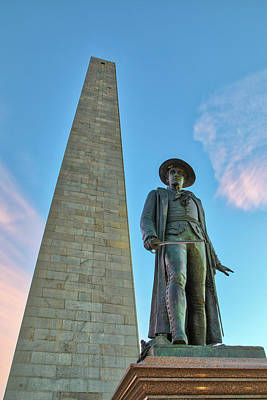 Photograph - William Prescott And Bunker Hill Monument  by Juergen Roth