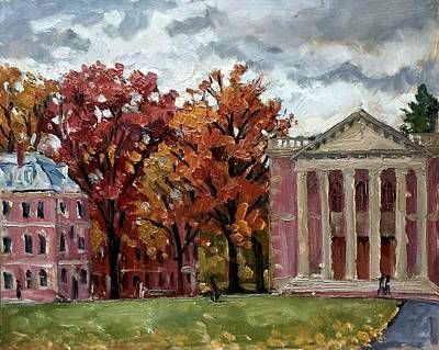 Painting - Williams College Rainy Autumn by Thor Wickstrom