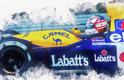 Painting - Williams Fw14 - 02 by Andrea Mazzocchetti
