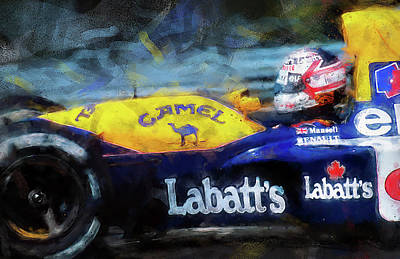 Painting - Williams Fw14 - 03 by Andrea Mazzocchetti