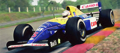 Painting - Williams Fw14 - 05 by Andrea Mazzocchetti