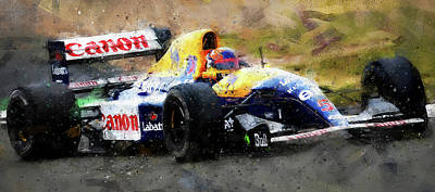 Painting - Williams Fw14 - 06 by Andrea Mazzocchetti