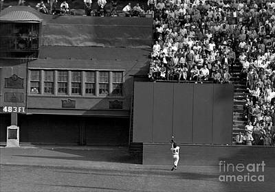 Photograph - Willie Mays Makes His Famous Catch Off by New York Daily News Archive