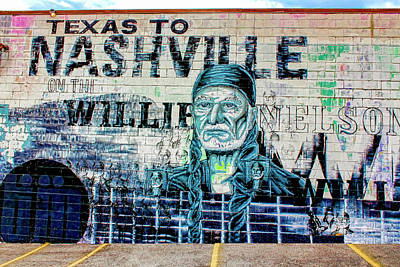 Photograph - Willie Nelson Graffiti Wall by Carlos Diaz