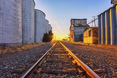 Photograph - Wilson's Golden Rails by Darren White