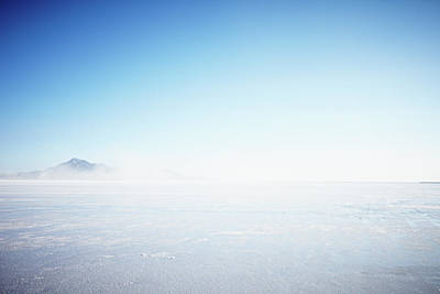 Photograph - Wind Blowing Over Salt Flats by Thomas Barwick