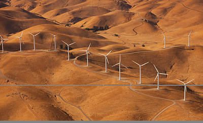 Photograph - Wind Generators In The Landscape Of The by Mint Images - Art Wolfe