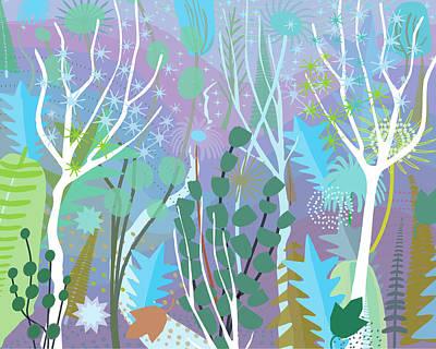 Digital Art - Wind In Winter Forest by Charles Harker