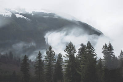 Photograph - Wind Pulling Clouds From Trees by Davin McLaird