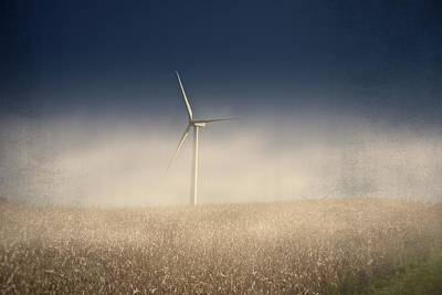 Photograph - Wind Turbine In Fog by Guy Whiteley