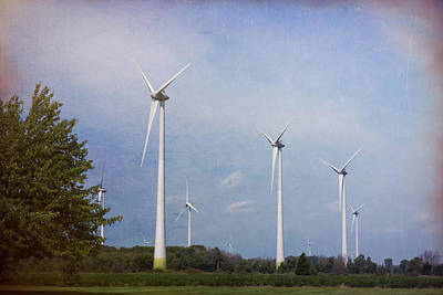Photograph - Wind Turbines by Leslie Montgomery